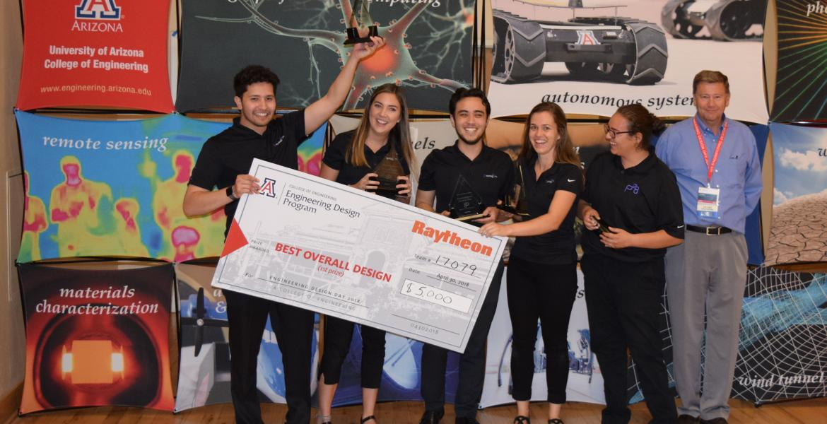 Winners of Raytheon Award for Best Overall Design