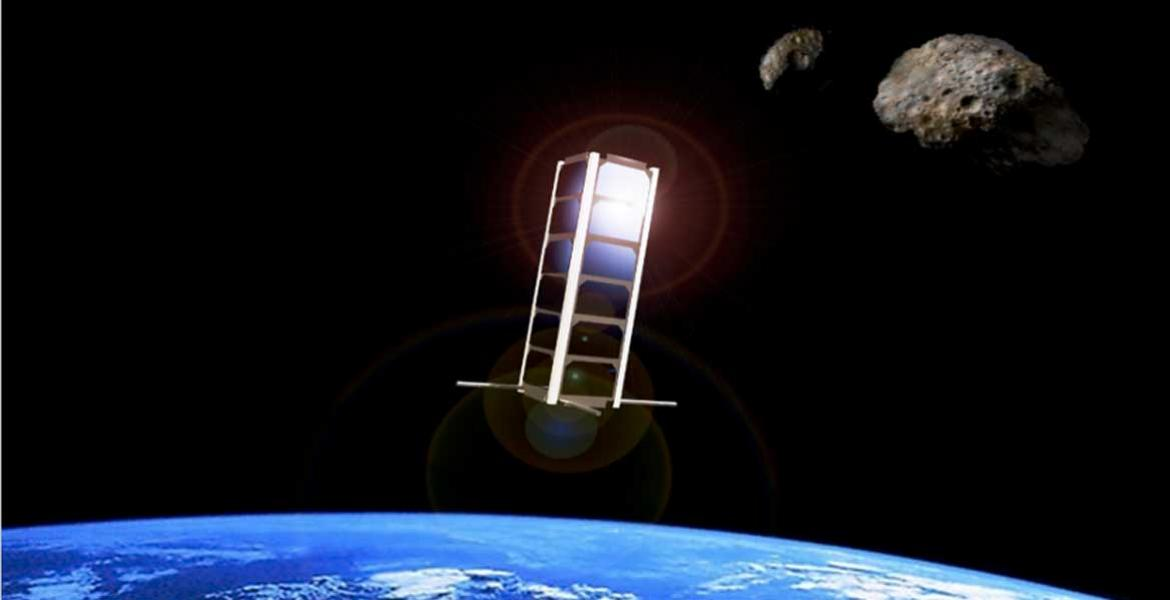CubeSat in space