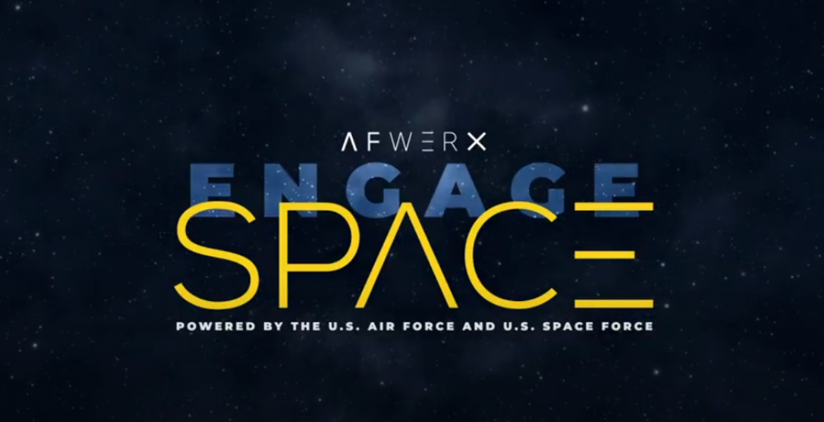 Graphic against a starry background with the words