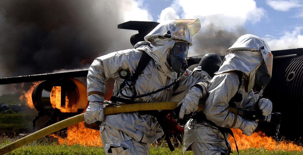 air force fire fighters