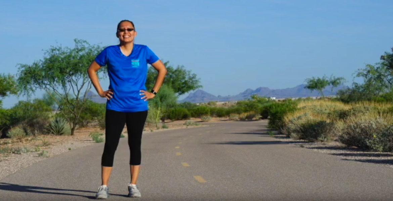 Nedlaya Francisco jogging