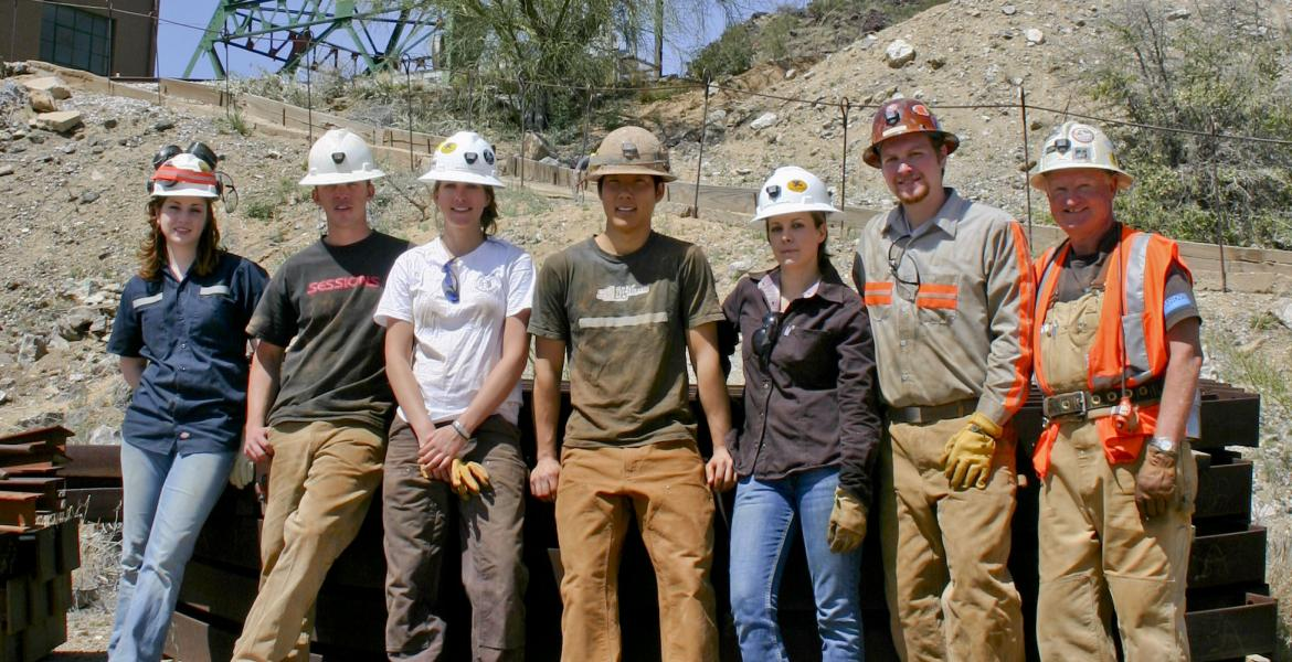 team of mining students