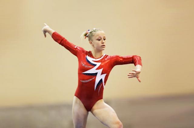 First-year UA Engineering student Dani Spencer, a member of the Arizona Wildcats gymnastics team.