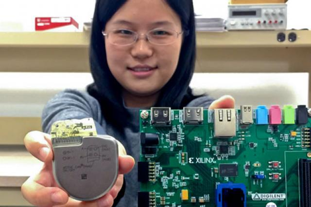 Sixing Lu is helping create anti-hacking mechanism for pacemakers.