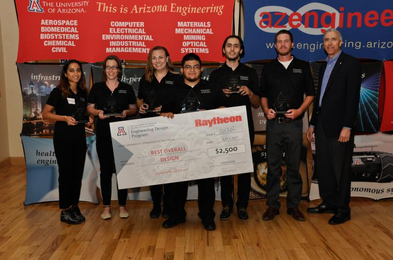 Congratulations to Team 16062, winners of the Raytheon Best Overall Design Award!