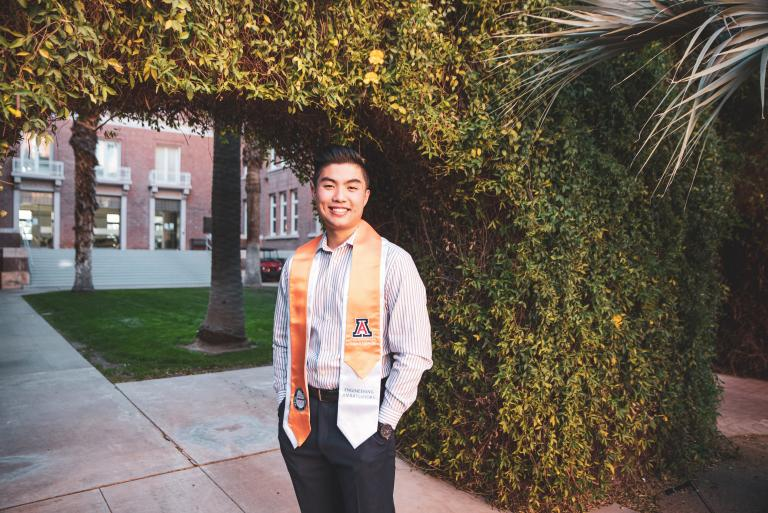 Brandon Nguyen, outstanding senior in biomedical engineering
