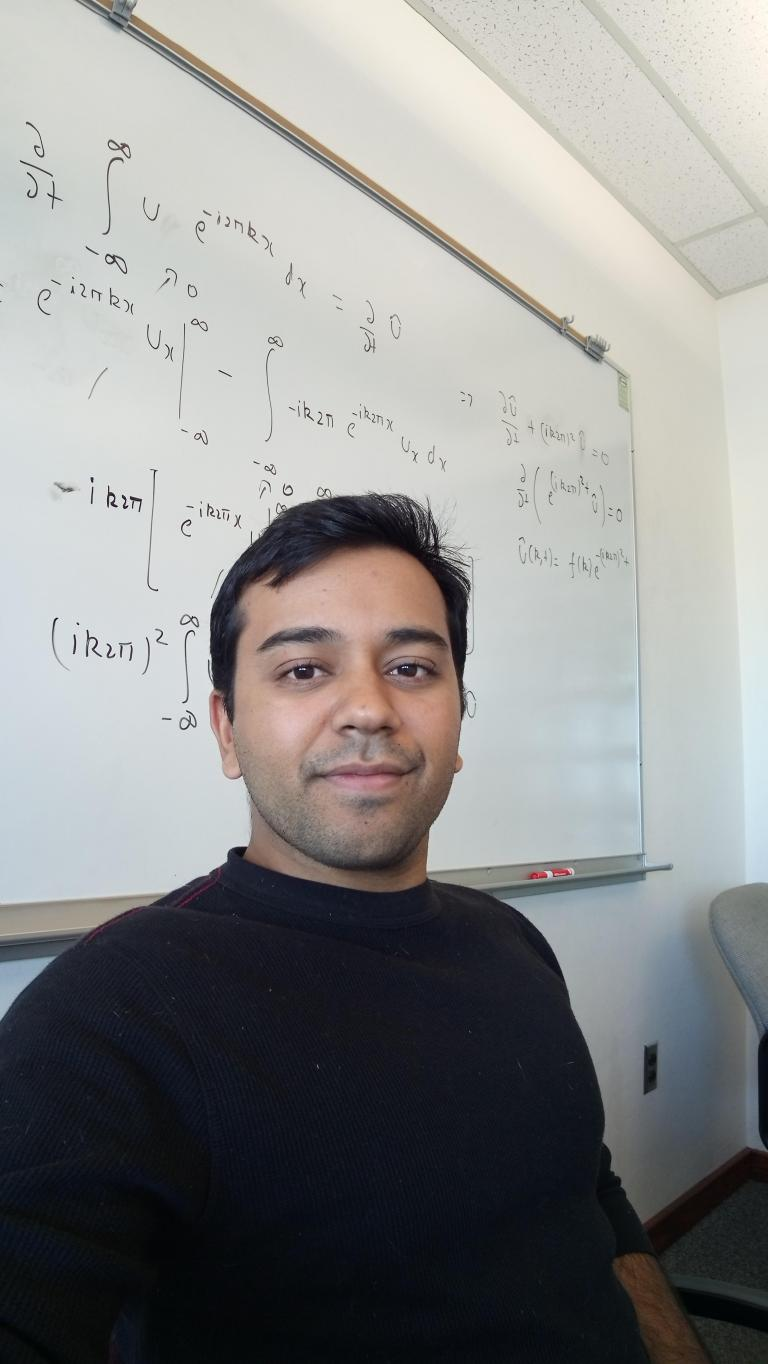 Ashish Singh, outstanding graduate student in mechanical engineering.
