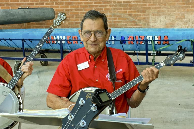 Rudy Jimenez on the banjo