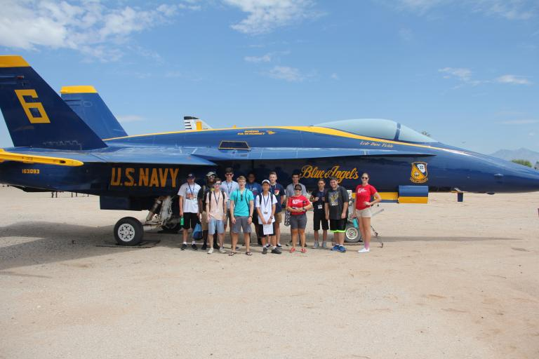 Aerospace engineering field trip to Pima Air & Space Museum