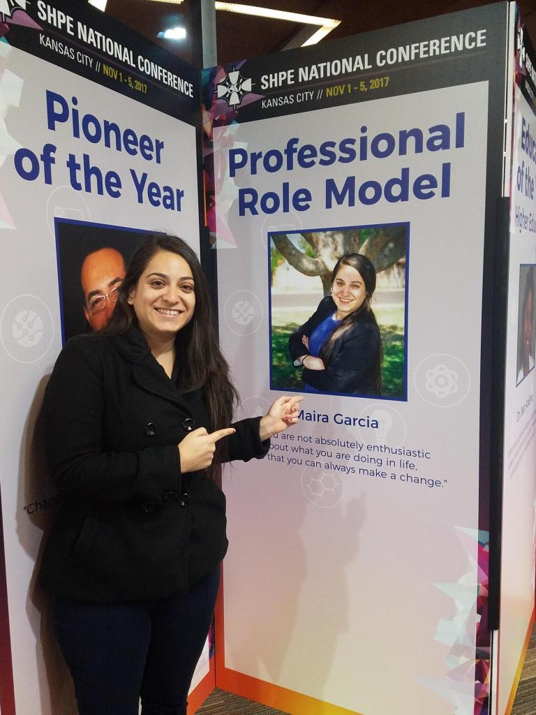 Garcia at a SHPE Convention
