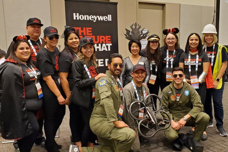 Garcia at a SHPE Convention with her Honeywell colleagues