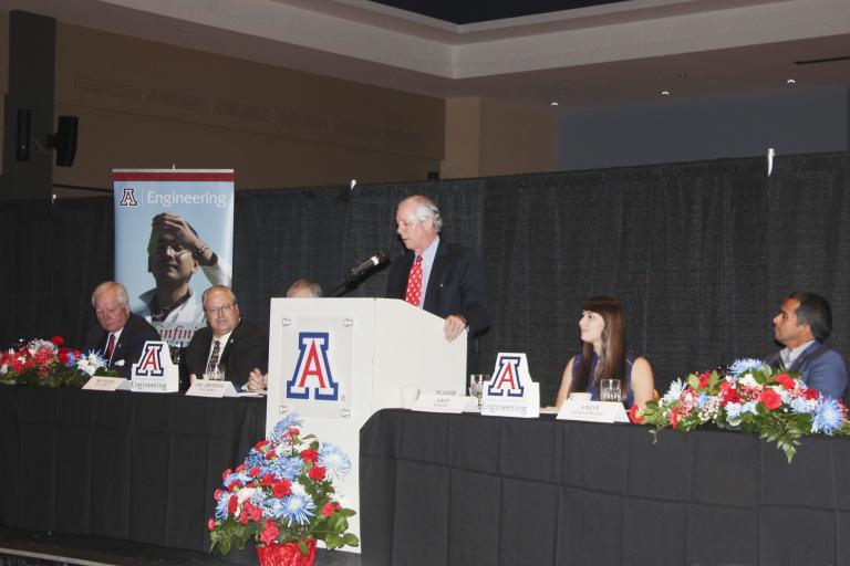 UA President Robert C. Robbins at the podium