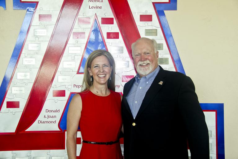 Alumni at the helm! Kristina Swallow, 2017 president-elect of the American Society of Civil Engineers, with Mark Woodson, 2016 ASCE president