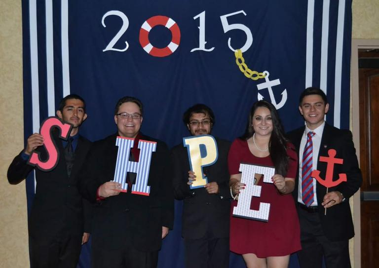 Garcia with her friends from SHPE