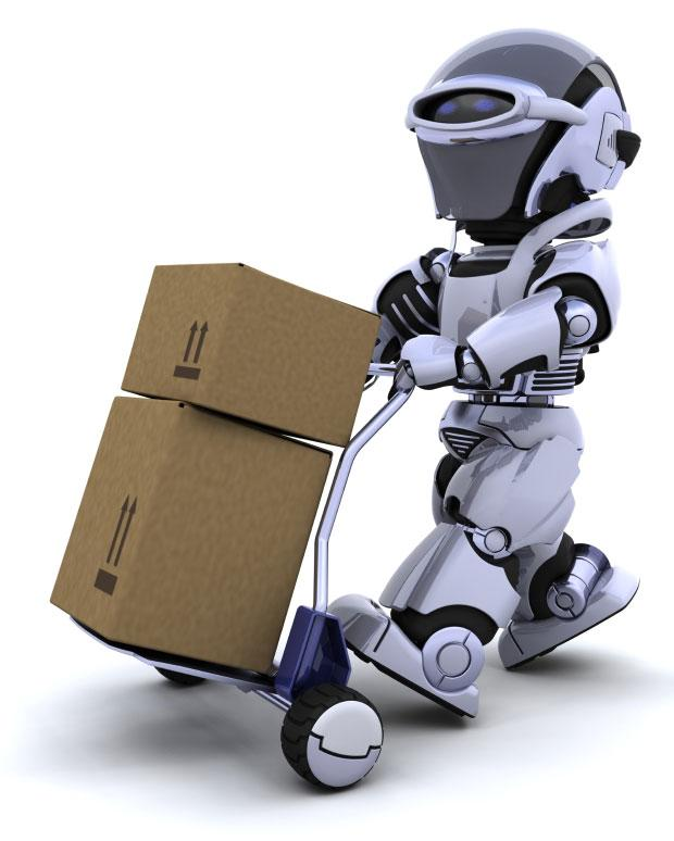 robot moving boxes