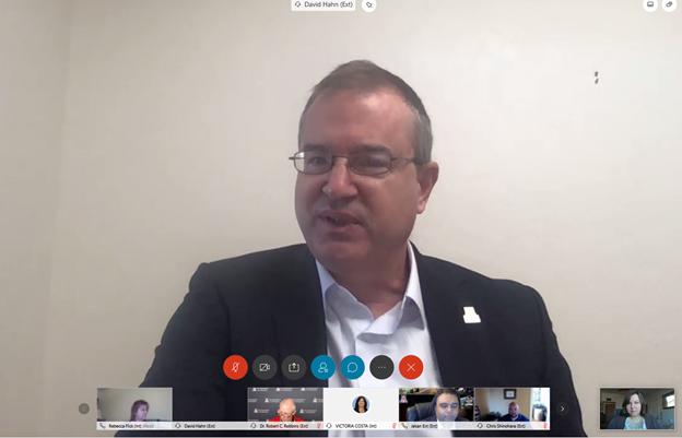 Screenshot of David W. Hahn in a Zoom meeting