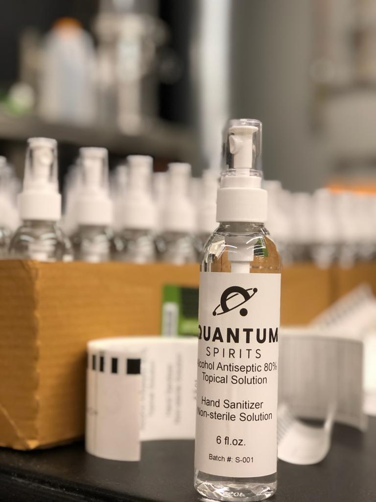 Quantum Spirits hand sanitizer