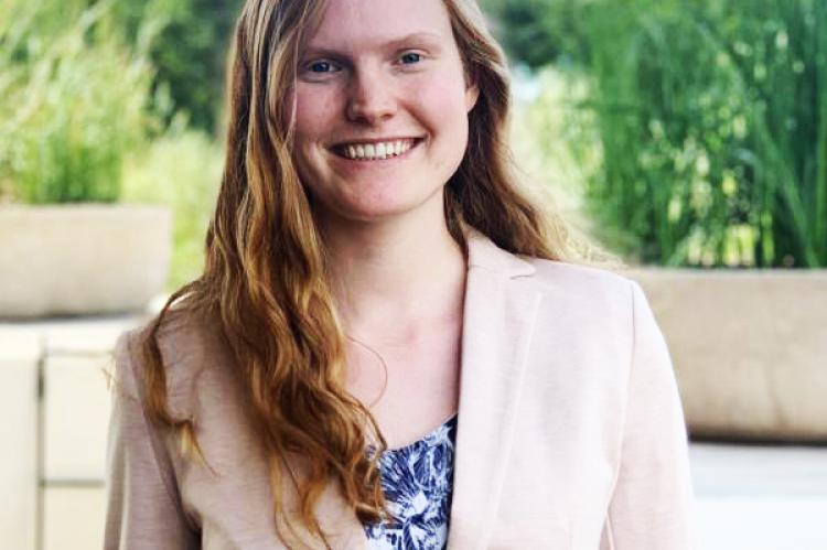 Amy Pierce, outstanding senior in biosystems engineering.