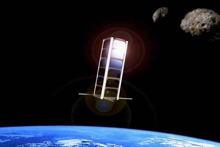 CubeSat in space