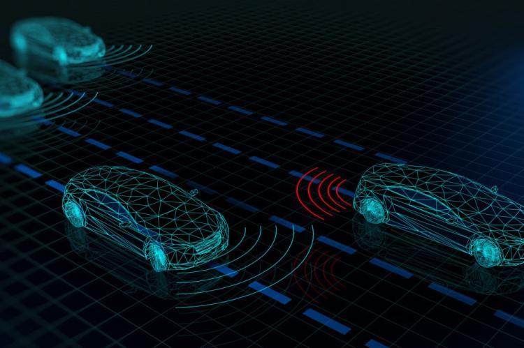 graphic showing radar waves