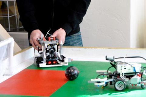 soccer-playing robot