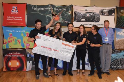 Winners of Raytheon Award for Best Overall Design