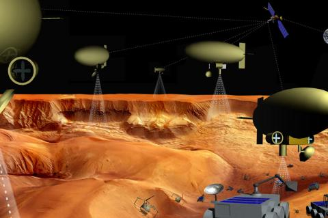 Robot Armada for space exploration