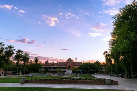 Old Main at sunset