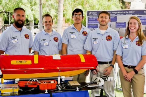 Rescue boat winning team