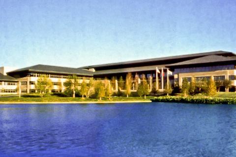 ExxonMobil corporate headquarters in Irving, Texas.