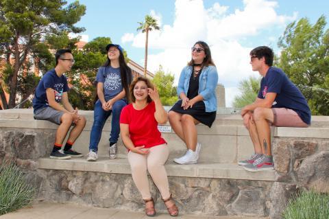 Diverse group of freshmen