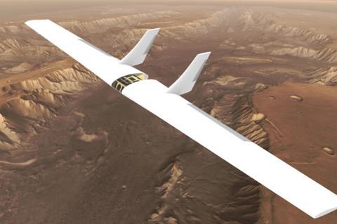Martian sailplane