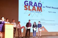 Winners present their research