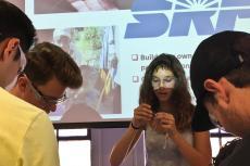 Students make water purifiers