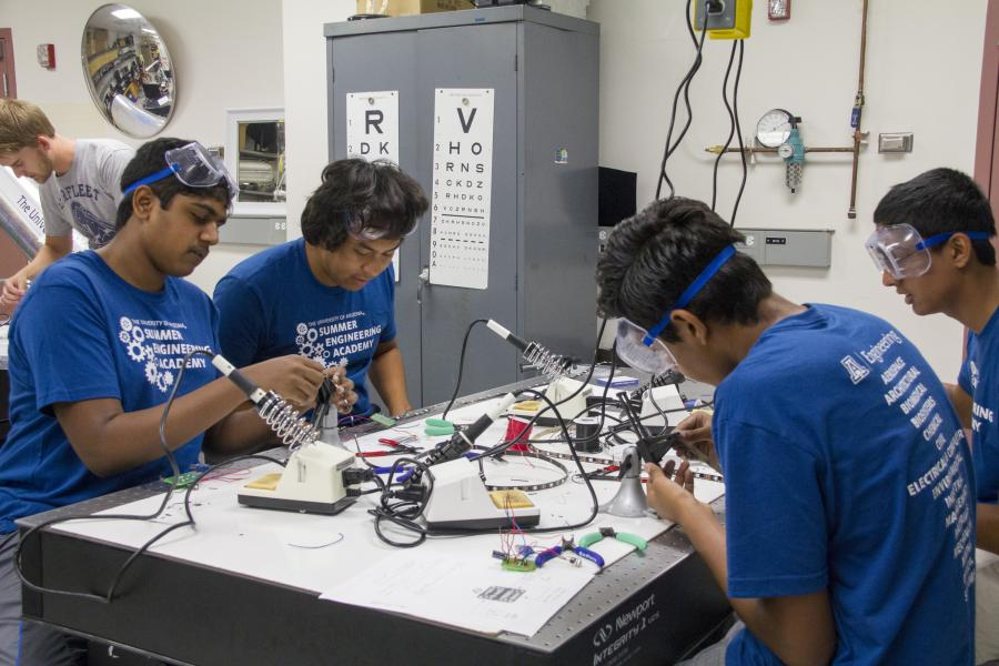 Optical engineering lab class