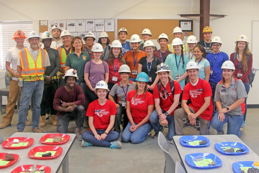 Mining engineering trip to student-run San Xavier Mine
